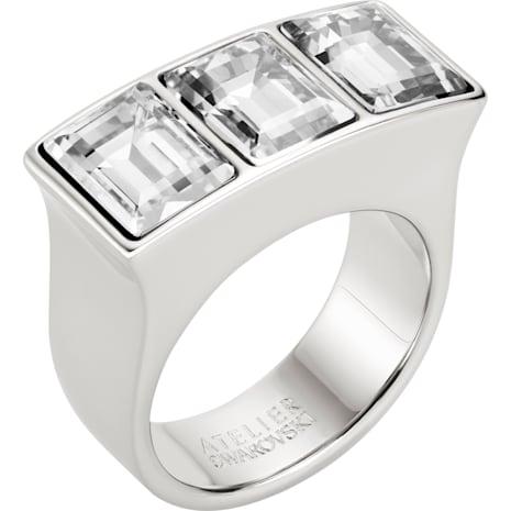 Fluid Ring, Gray, Palladium plated - Swarovski, 5455649