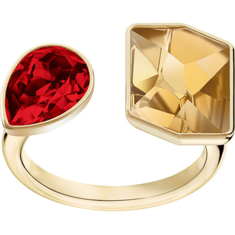 Prisma 戒指, 多色設計, 鍍金色色調 - Swarovski, 5456607