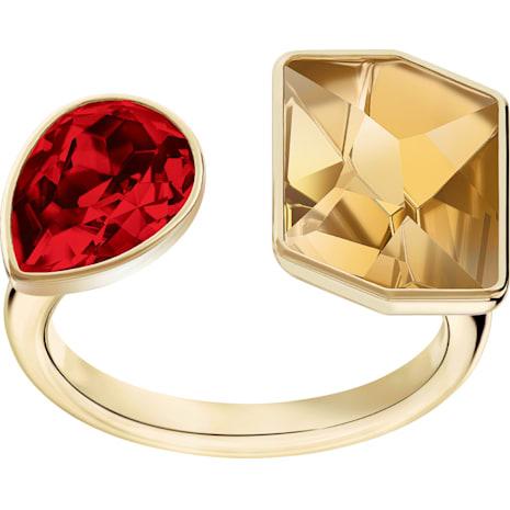 Prisma Ring, Multi-colored, Gold-tone plated - Swarovski, 5456607