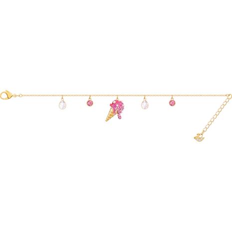 No Regrets Ice Cream Bracelet, Multi-coloured, Gold-tone plated - Swarovski, 5457498