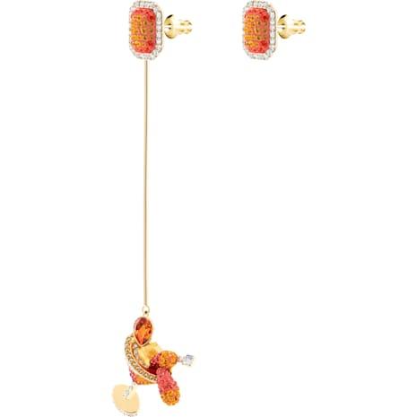 No Regrets Cocktail İğneli Küpeler, Cok Renkli, Altın rengi kaplama - Swarovski, 5457499