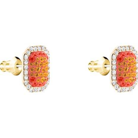No Regrets Cocktail 穿孔耳環, 多色設計, 鍍金色色調 - Swarovski, 5457499