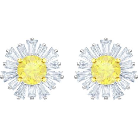 Boucles d'oreilles Sunshine, blanc, Métal rhodié - Swarovski, 5459591