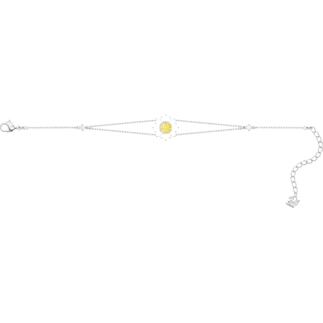 Sunshine Bracelet, White, Rhodium plated - Swarovski, 5459594