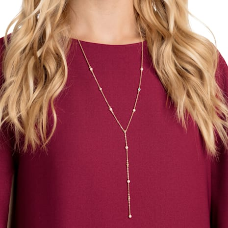 No Regrets Y Necklace, Multi-colored, Gold-tone plated - Swarovski, 5459612