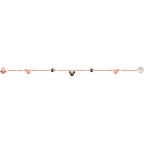 Swarovski Remix Collection Mickey Strand, Multi-colored, Rose-gold tone plated - Swarovski, 5462360