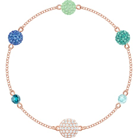 Swarovski Remix Collection Pop Strand, Зеленый Кристалл, Покрытие оттенка розового золота - Swarovski, 5462653