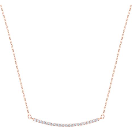 Collar Only, blanco, Baño en tono Oro Rosa - Swarovski, 5464129