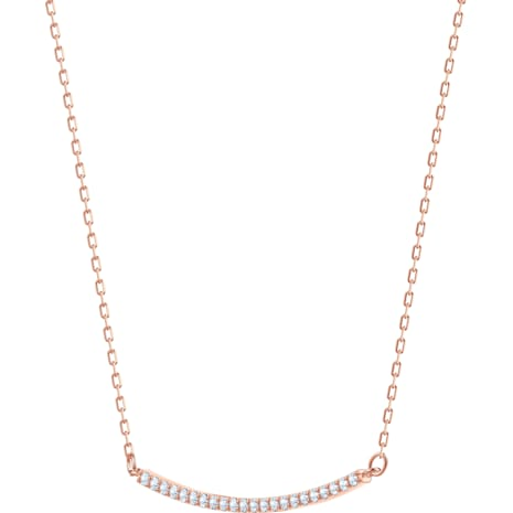 Collier Only, blanc, Métal doré rose - Swarovski, 5464129