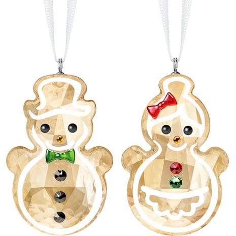 Gingerbread Snowman Couple Ornament - Swarovski, 5464885
