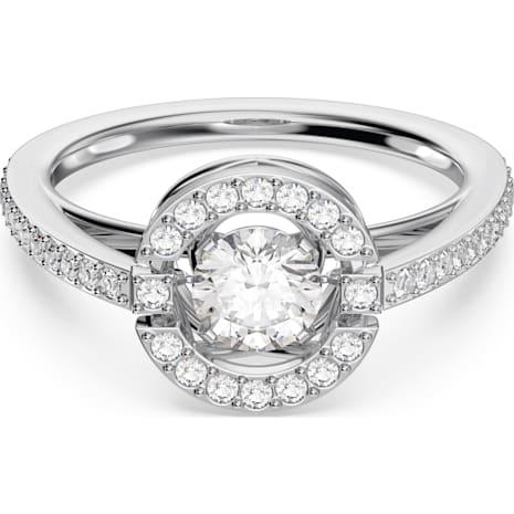 Swarovski Sparkling Dance Round Кольцо, Белый Кристалл, Родиевое покрытие - Swarovski, 5465280