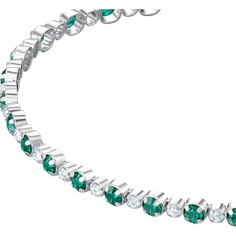 Subtle Armband, grün, Rhodiniert - Swarovski, 5465355