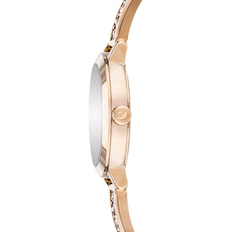 Cosmic Rock Watch, Metal bracelet, Grey, Champagne-gold tone PVD - Swarovski, 5466205