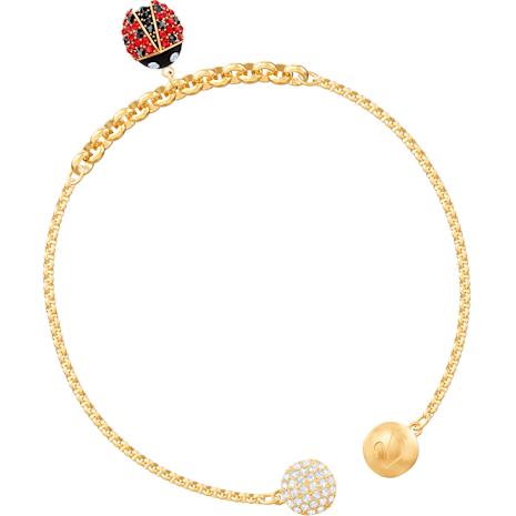 Swarovski Remix Collection Ladybug Strand, Многоцветный Кристалл, Покрытие оттенка золота - Swarovski, 5466832