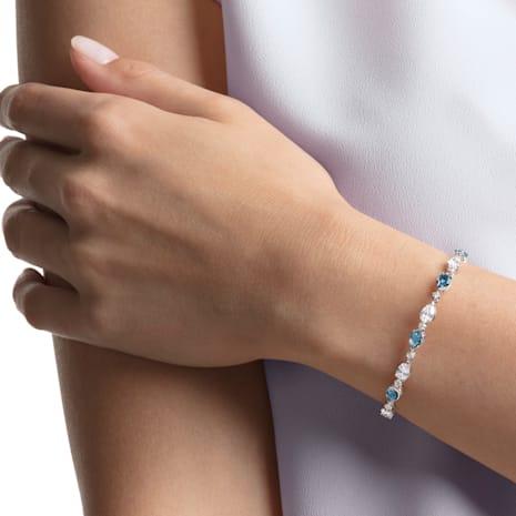 Vintage Bracelet, Blue, Rhodium plated - Swarovski, 5466882