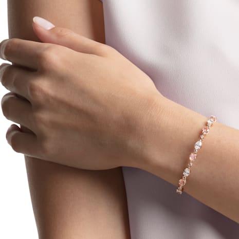 Vintage Bracelet, Pink, Rose-gold tone plated - Swarovski, 5466883