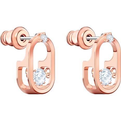 Orecchini Sparkling Dance, bianco, Placcato oro rosa - Swarovski, 5468118