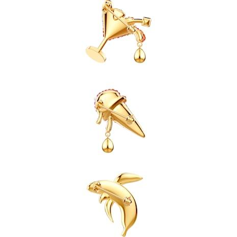 Parure de broches No Regrets, multicolore, métal doré - Swarovski, 5468254