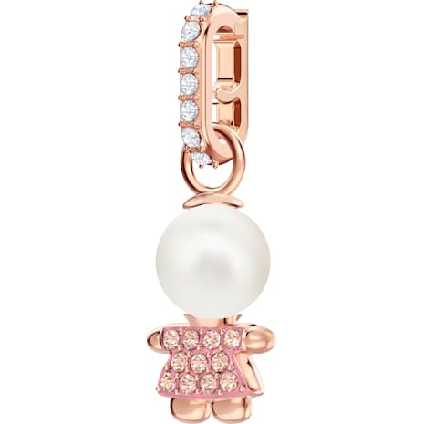 Swarovski Remix Collection Girl Charm, Pink, Rose-gold tone plated - Swarovski, 5468570