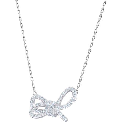 Lifelong Bow Set, White, Rhodium plated - Swarovski, 5470594