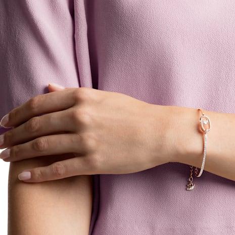 Bracelet North, blanc, Métal doré rose - Swarovski, 5472382