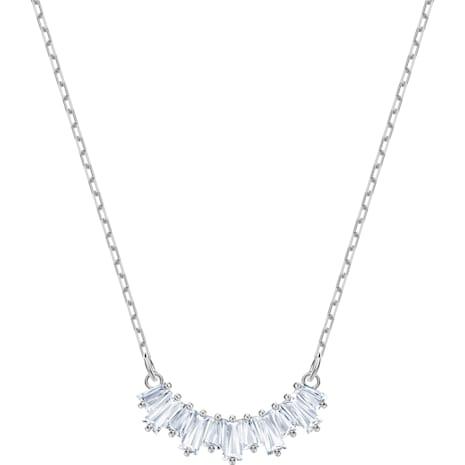 Sunshine Necklace, White, Rhodium plated - Swarovski, 5472490