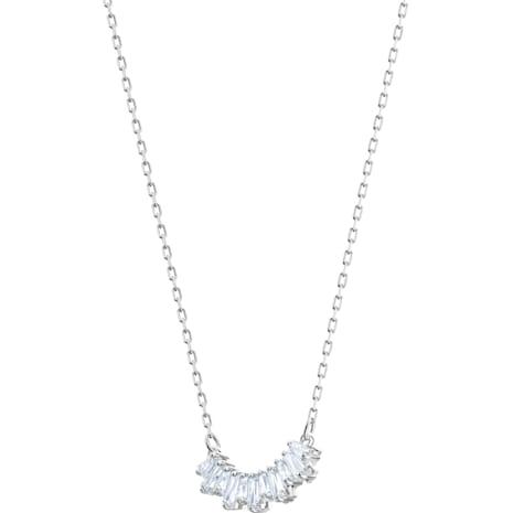 Collar Sunshine, blanco, Baño de Rodio - Swarovski, 5472490