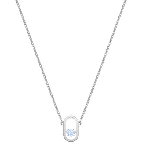 Sparkling Dance Necklace, Blue, Rhodium plated - Swarovski, 5479118