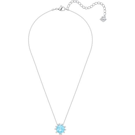 Olive Pendant, Aqua, Rhodium plated - Swarovski, 5479930