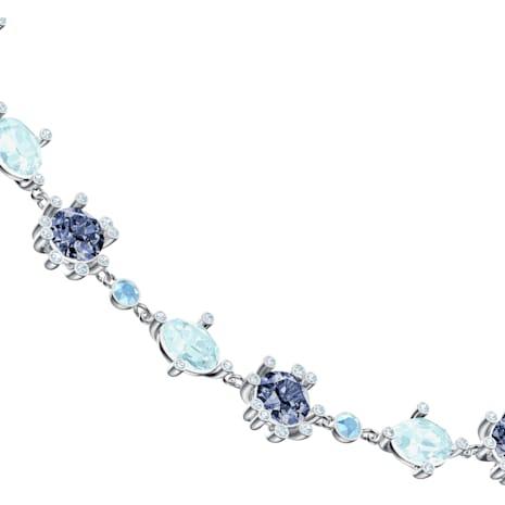 Olive Necklace, Multi-colored, Rhodium plated - Swarovski, 5480481