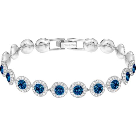 Braccialetto Angelic, azzurro, Placcatura rodio - Swarovski, 5480484