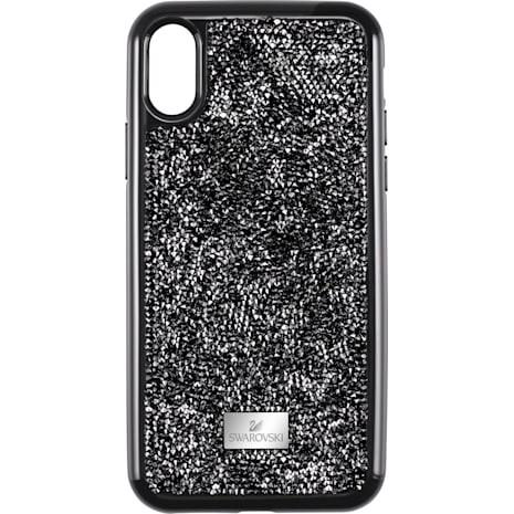 Glam Rock Koruyuculu Akıllı Telefon Kılıf, iPhone® XS Max, Siyah - Swarovski, 5482283