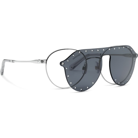 Swarovski Sunglasses with Click-on Mask, SK0275 – H 52016, Gray - Swarovski, 5483807