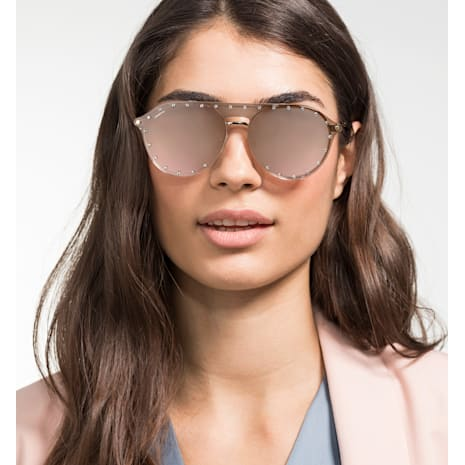 Gafas de sol Swarovski con pantalla Click-On, SK0276 – H 54032, rosa - Swarovski, 5483811