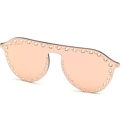 Apliques Click-On para gafas de sol Swarovski, SK5329-CL 32G, Rosa - Swarovski, 5483812