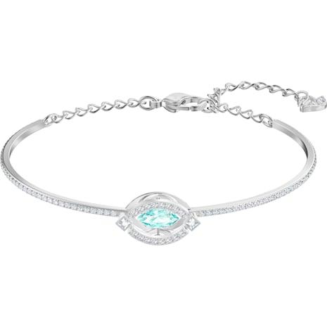 Swarovski Sparkling Dance Жёсткий браслет, Зеленый Кристалл, Родиевое покрытие - Swarovski, 5485722