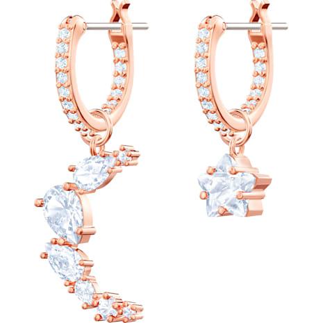 Boucles d'oreilles drop Penélope Cruz Moonsun, blanc, Métal doré rose - Swarovski, 5486354