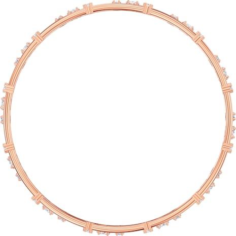 Penélope Cruz Moonsun Cluster Bangle, White, Rose-gold tone plated - Swarovski, 5486623