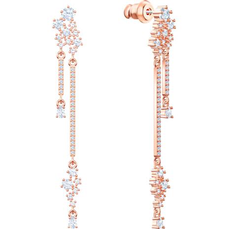 Orecchini a goccia a buco Penélope Cruz Moonsun, bianco, Placcato oro rosa - Swarovski, 5486635