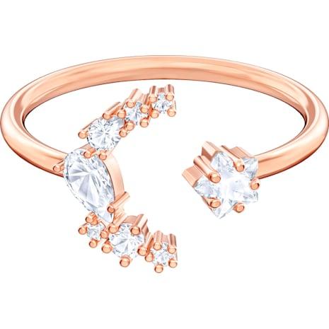 Penélope Cruz Moonsun Open Ring, White, Rose-gold tone plated - Swarovski, 5486814