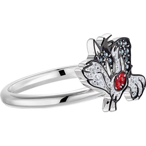 Looney Tunes Sylvester Motif Ring, Multi-coloured, Rhodium plated - Swarovski, 5487638