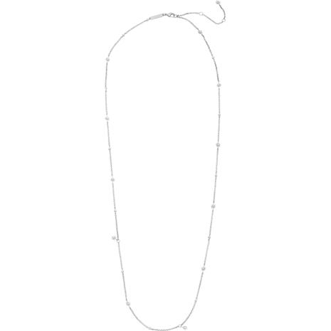 Collar Penélope Cruz Moonsun, Edición Limitada, blanco, Baño de Rodio - Swarovski, 5489751