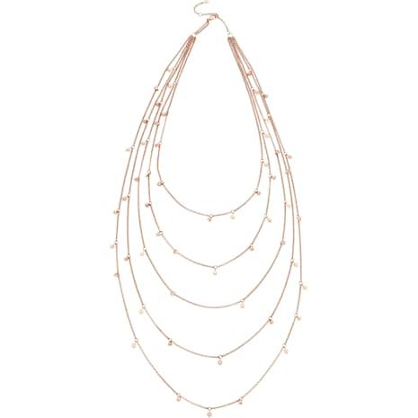 Penélope Cruz Moonsun Multi Strandage, Limited Edition, White, Rose-gold tone plated - Swarovski, 5489765