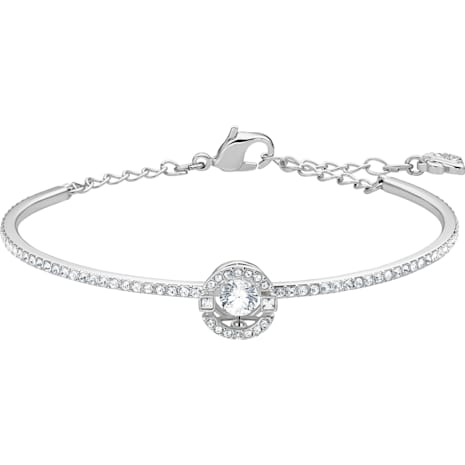 Swarovski Sparkling Dance Жёсткий браслет, Белый Кристалл, Родиевое покрытие - Swarovski, 5497478