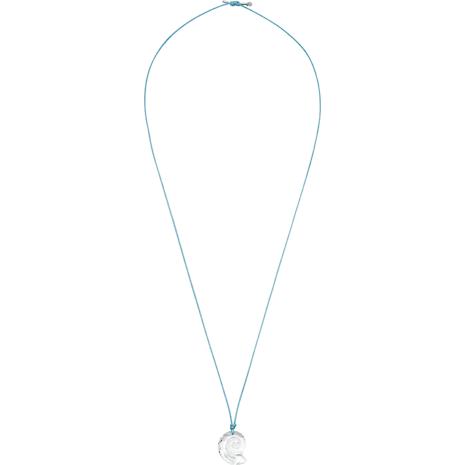 Collier Swarovski Waterschool, large, aiguemarine turquoise, Métal rhodié - Swarovski, 5497565