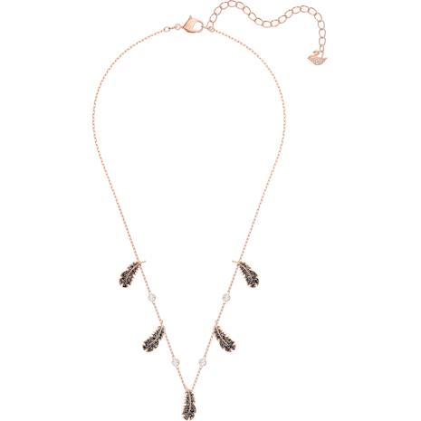 Naughty Halsband, schwarz, Rosé vergoldet - Swarovski, 5497874