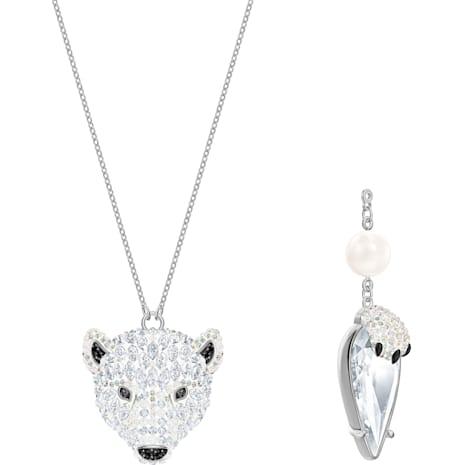 Polar Bestiary 펜던트, 멀티컬러, 로듐 플래팅 - Swarovski, 5498246