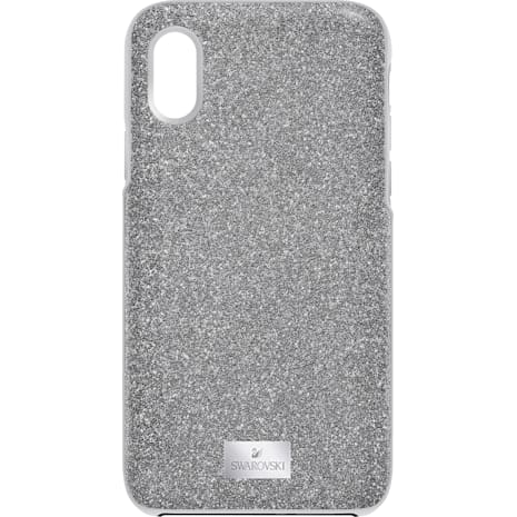 High Smartphone Case with integrated Bumper, iPhone® X/XS, Gray - Swarovski, 5503552