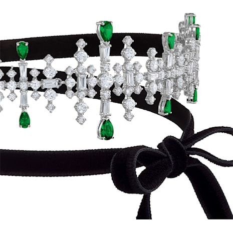 Perfection Choker, Multi-coloured, Rhodium plated - Swarovski, 5507696