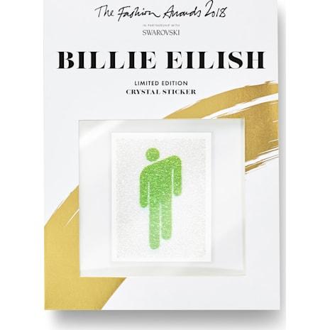 Les stickers Billie Eilish ornés de cristal Swarovski, Fashion Awards 2018 - Swarovski, 5507968
